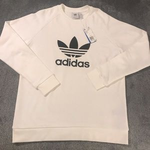 Adidas White Crewneck.